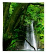 Salto Do Prego Waterfall Fleece Blanket
