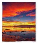 Salton Sea Sunset Fleece Blanket