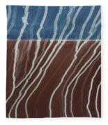 Saltwater Trails #1 Fleece Blanket