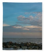 Salty Air Over Breach Inlet Fleece Blanket