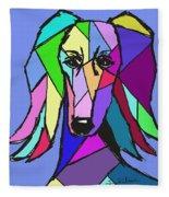 Saluki Colors Fleece Blanket