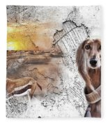 Saluki - The One And Only Fleece Blanket