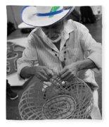 Salvadorean Handcrafter Fleece Blanket