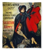 Salvation Army Poster, 1919 Fleece Blanket