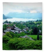 Salzburg Lake District Fleece Blanket