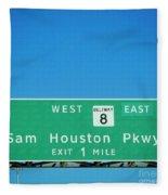 Sam Houston Pkway Fleece Blanket