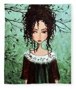 Samantha's Chocolate Tree Fleece Blanket