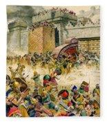 Samaria Falling To The Assyrians Fleece Blanket