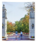 Sample Gates At University Of Indiana Fleece Blanket