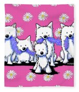 Sams And Westie Fleece Blanket
