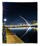 Samuel Beckett Bridge 2 Fleece Blanket