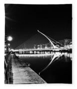 Samuel Beckett Bridge 2 Bw Fleece Blanket