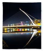 Samuel Beckett Bridge 3 Fleece Blanket