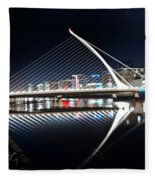 Samuel Beckett Bridge 3 V2 Fleece Blanket