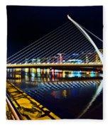 Samuel Beckett Bridge 5 Fleece Blanket