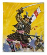 Samurai Warriors Fleece Blanket