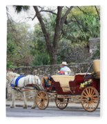 San Antonio Carriage Fleece Blanket