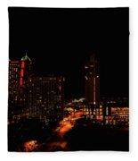 San Antonio Night Fleece Blanket