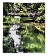 San Antonio River Scenic Fleece Blanket
