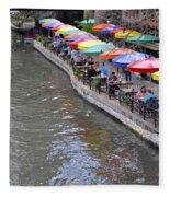 San Antonio Riverwalk Fleece Blanket