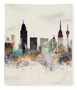 San Antonio Texas Skyline Fleece Blanket