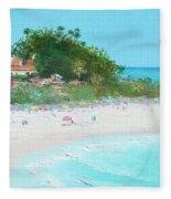 San Clemente Beach Panorama Fleece Blanket