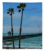 San Clemente Peir Fleece Blanket