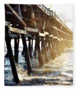 San Clemente Pier Magic Hour Fleece Blanket