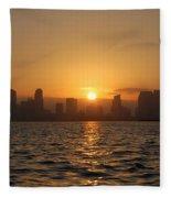 San Diego Bay Sunrise Fleece Blanket