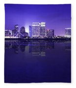 San Diego Cityscape Fleece Blanket