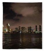 San Diego Evening Skyline Fleece Blanket