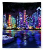 San Diego Harbor Fleece Blanket
