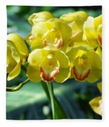 San Diego Yellow Orchids Fleece Blanket