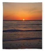 San Eljio Sunset Ca Fleece Blanket