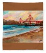 San Francisc Bridge Fleece Blanket