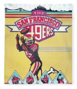 San Francisco 49ers Vintage Program Fleece Blanket