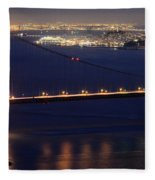 San Francisco At Night Fleece Blanket