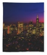 San Francisco At Sunset Fleece Blanket