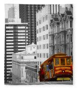 San Francisco - Red Cable Car Fleece Blanket