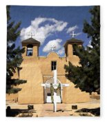 San Francisco De Asis Fleece Blanket