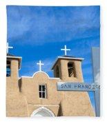 San Francisco De Asis Mission Church Fleece Blanket