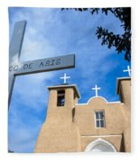 San Francisco De Asis - Rancho De Taos Fleece Blanket