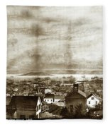 San Francisco, From Clay Street, 1855 Fleece Blanket