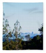 San Francisco From Mt. Tamalpais Fleece Blanket
