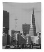 San Francisco From Treasure Island Fleece Blanket