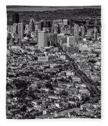 San Francisco From Twin Peaks Fleece Blanket
