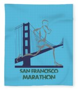 San Francisco Marathon2 Fleece Blanket