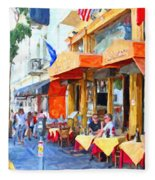 San Francisco North Beach Outdoor Dining Fleece Blanket