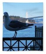 San Francisco - Oakland Bay Bridge - Seagull View Fleece Blanket