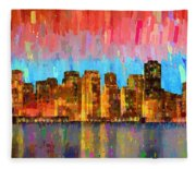 San Francisco Skyline 11 - Pa Fleece Blanket